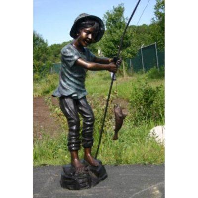 Umelecké Sochy Chlapec-rybár