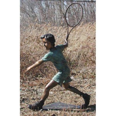 Umelecké Sochy Chlapec hrajúci tenis