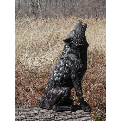Umelecké Sochy Dva bronzové vlky