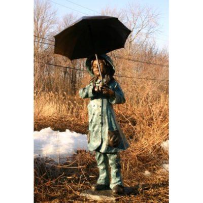 Umelecké Sochy Dievča pod dáždnikom