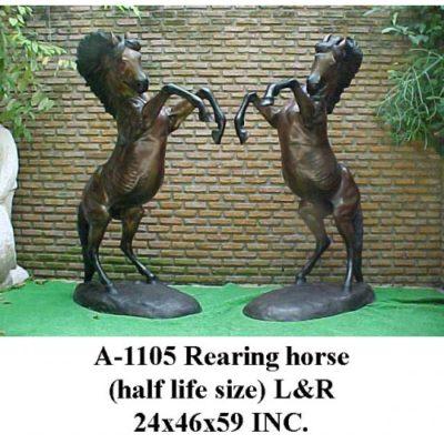 Umelecké Sochy Vzpínajúci sa pár koňov (polovičná veľkosť)