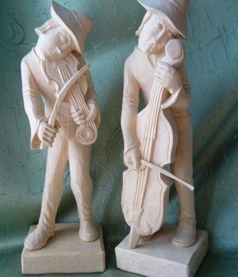 Umelecké Sochy Malí muzikanti
