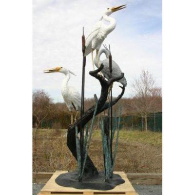 Umelecké Sochy Tri volavky na strome