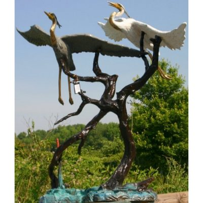 Umelecké Sochy Dve lietajúce volavky