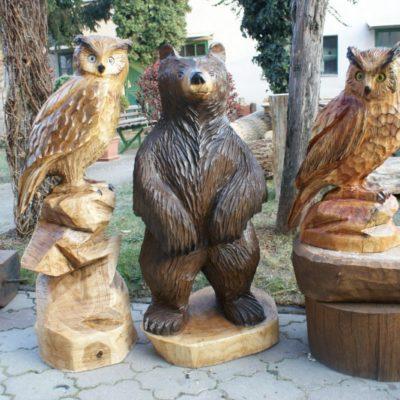 Umelecké Sochy Drevené lesné zvieratká