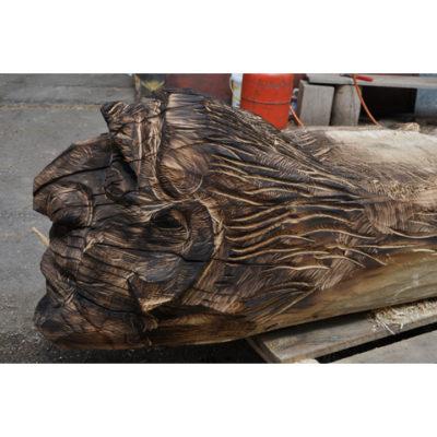 Čarodejnícka lavička - socha z dreva