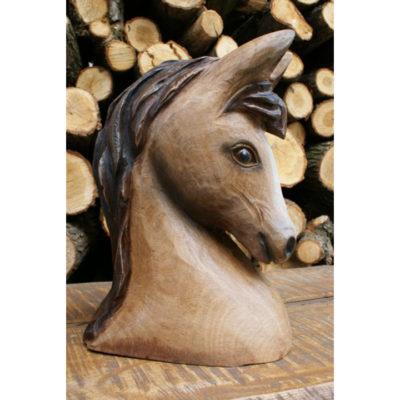 Umelecké Sochy Drevená hlava koníka