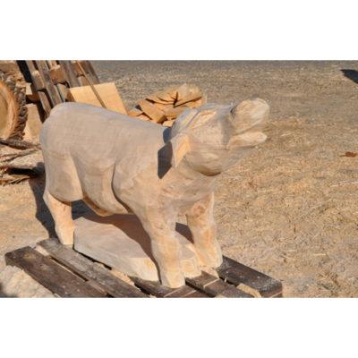 Umelecké Sochy Drevená kravička