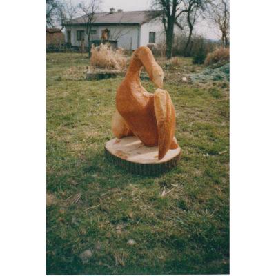 Umelecké Sochy Drevená labuť