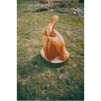 Drevená labuť - socha z dreva