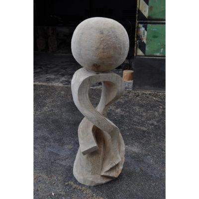 Umelecké Sochy Drevená socha túžby - záhradná drevená skulptura