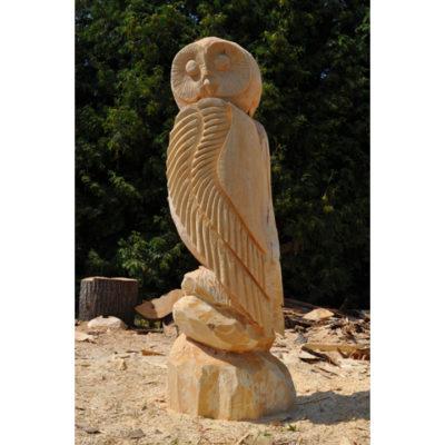 Umelecké Sochy Drevená sova