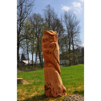 Drevená sova II - socha z dreva