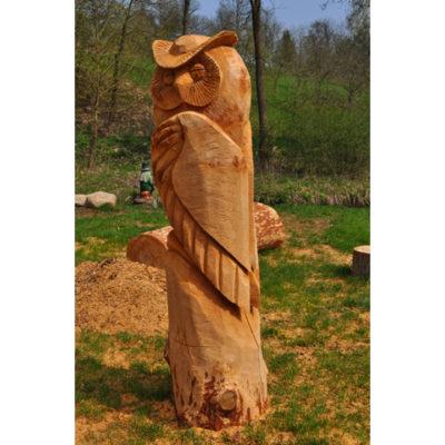 Umelecké Sochy Drevená sova II