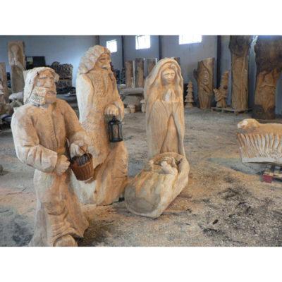 Umelecké Sochy Drevená svätá rodinka