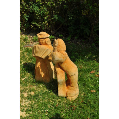 Drevená trpasličia kapela - socha z dreva