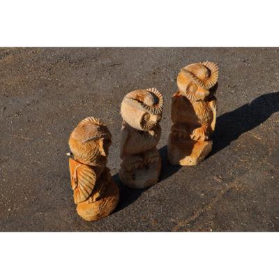 Umelecké Sochy Drevené sovičky