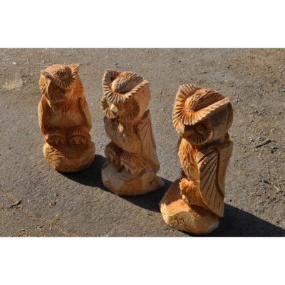 Drevené sovičky - socha z dreva
