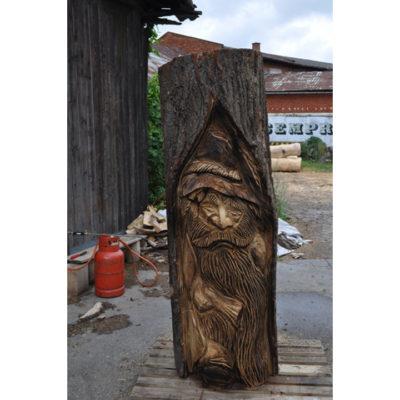 Drevený lúpežník - socha z dreva