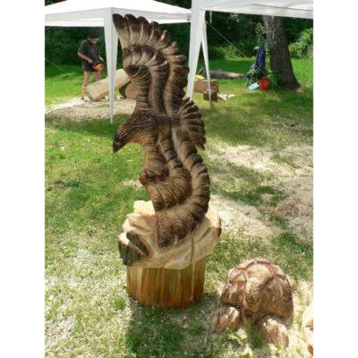 Umelecké Sochy Drevený orol