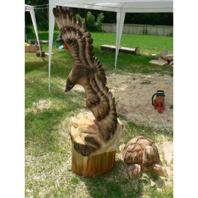 Drevený orol - socha z dreva