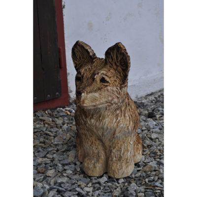 Drevený pes - Socha z dreva