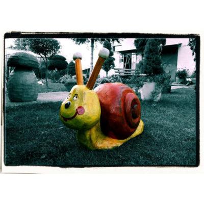 Umelecké Sochy Drevený slimák
