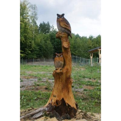 Umelecké Sochy Dve sovy na strome