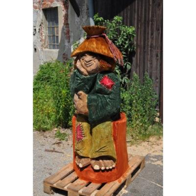 Farebný vodník - socha z dreva