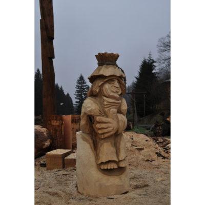 Lenivý vodník Pepa - socha z dreva