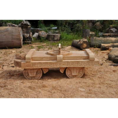Lesná železnica - socha z dreva