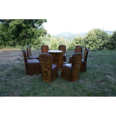 Umelecké Sochy Lesné drevené posedenie