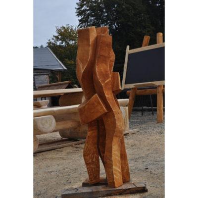 Umelecké Sochy Lúčenie - záhradna drevená skluptura