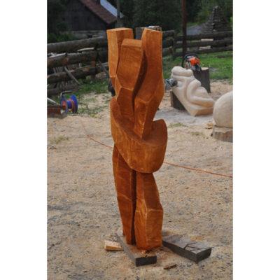 Lúčenie - socha z dreva