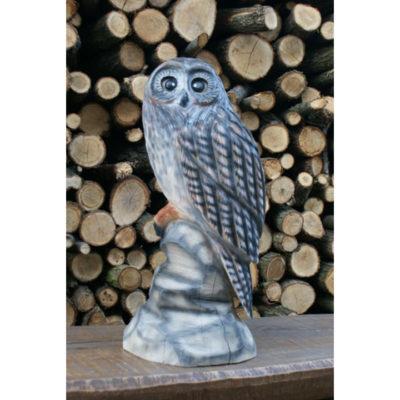 Umelecké Sochy Malá drevená sova 2