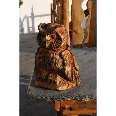 Umelecké Sochy Malá drevená sovička