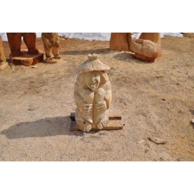 Malý drevený vodník - socha z dreva