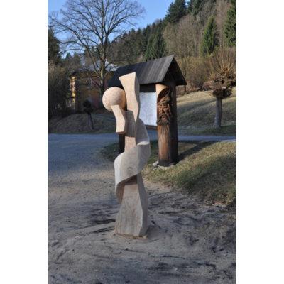 osudové stretnutie - socha z dreva