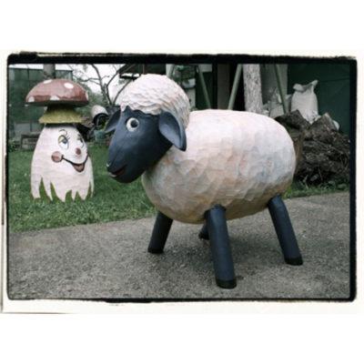 Umelecké Sochy Drevená ovečka Shaun