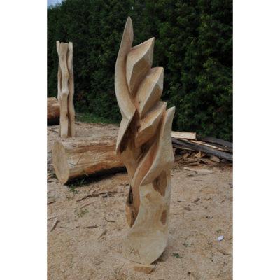 Pokora - socha z dreva