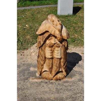 Pozitívny škriatok - socha z dreva