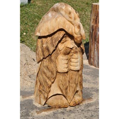 Umelecké Sochy Pozitívny drevený škriatok