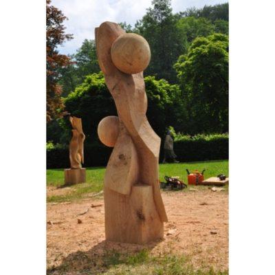 Umelecké Sochy Proti prúdu - záhradná drevená skluptúra
