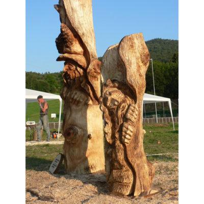 Umelecké Sochy Škriatkovia v strome