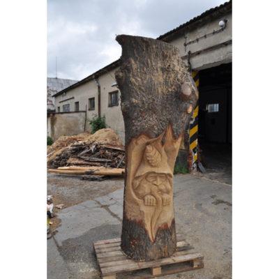 Umelecké Sochy Drevený škriatok Stromofúz