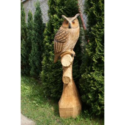 Umelecké Sochy Drevená sova na konári