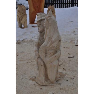 Umelecké Sochy Svätý Florián - drevená socha