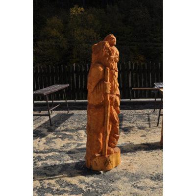 Umelecké Sochy Svätý Krištof - drevená socha