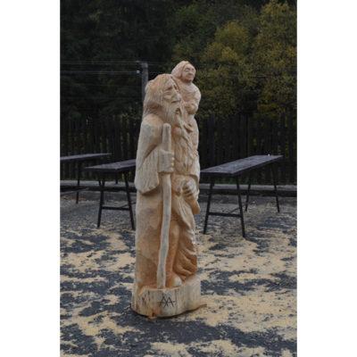 Svätý Krištof - socha z dreva