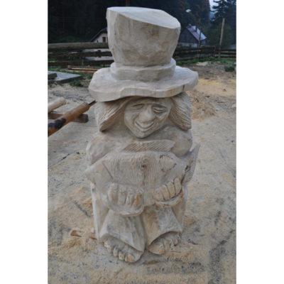 Umelecké Sochy Vodníkov syn - drevená socha